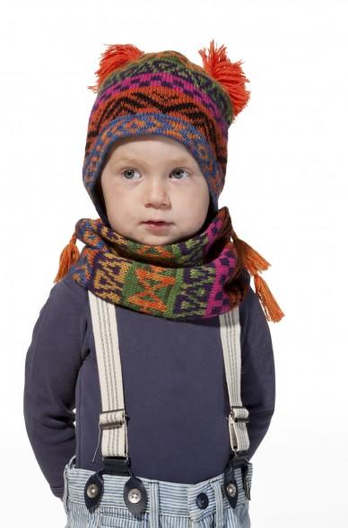 Alpaka Baby Mütze AQUARELL ab 6 Monate aus 100% Baby Alpaka_11481