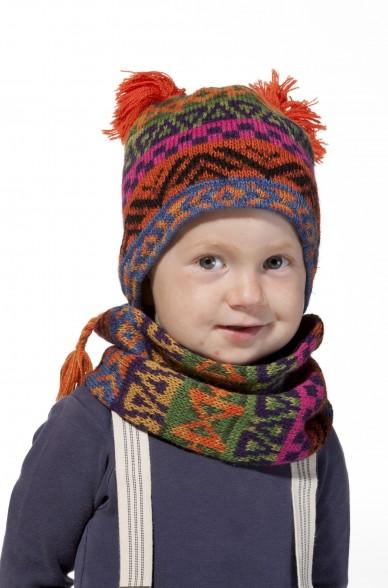 Alpaka Baby Mütze AQUARELL ab 6 Monate aus 100% Baby Alpaka_11482