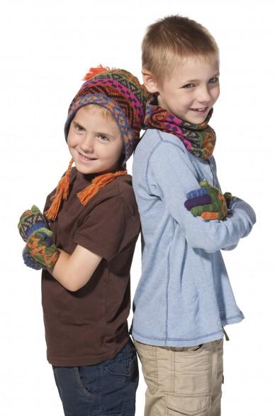 Kinder Loop Schal AQUARELL  mit Baumwoll Innenfutter von APU KUNTUR_11516