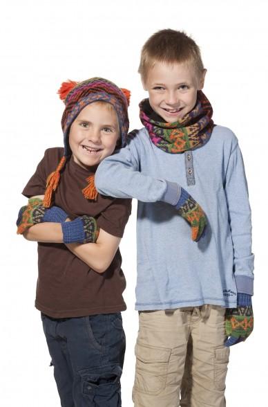 Kinder Loop Schal AQUARELL  mit Baumwoll Innenfutter von APU KUNTUR_11517