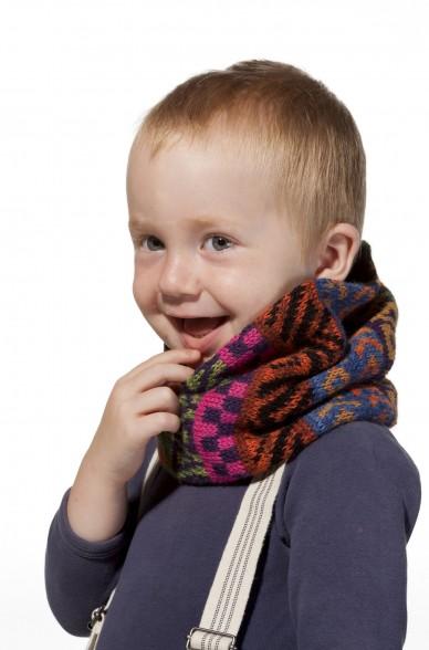 Kinder Loop Schal AQUARELL  mit Baumwoll Innenfutter von APU KUNTUR_11535
