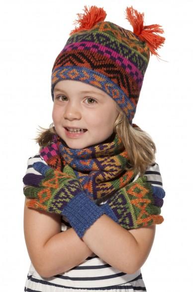 Kinder Loop Schal AQUARELL  mit Baumwoll Innenfutter von APU KUNTUR_11547