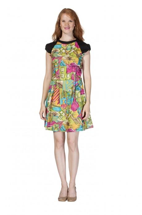 Frühjahrs-Kleid KAREN Pima Baumwolle_11617