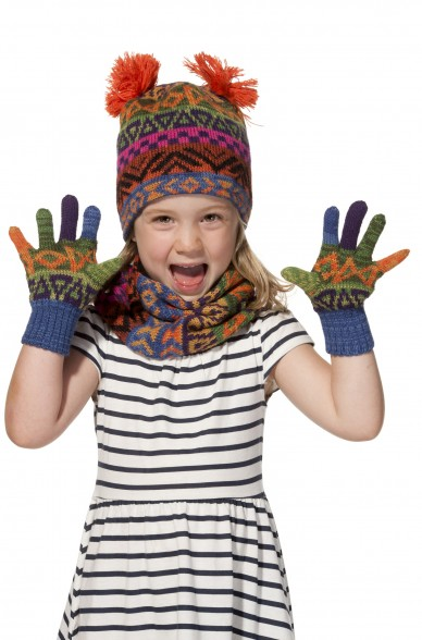 Alpaka Fingerhandschuhe AQUARELLl ( ab 7 Jahre) aus 100% Baby Alpaka_11713