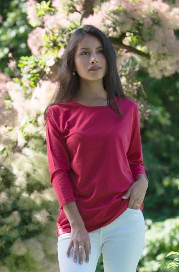T-Shirt DREI-VIERTEL-ARM 3/4 Bio Pima-Baumwolle Damen_13552
