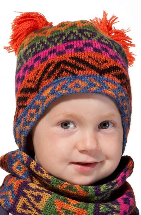 Alpaka Baby Mütze AQUARELL ab 6 Monate aus 100% Baby Alpaka_37109