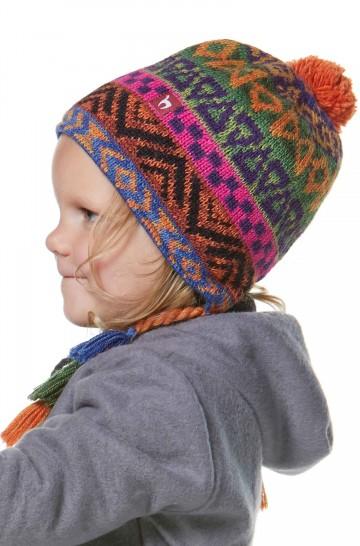 Kinder Mütze AQUARELL für 1-4 Jahre mit Baumwollvlies gefüttert Jacquard_37110