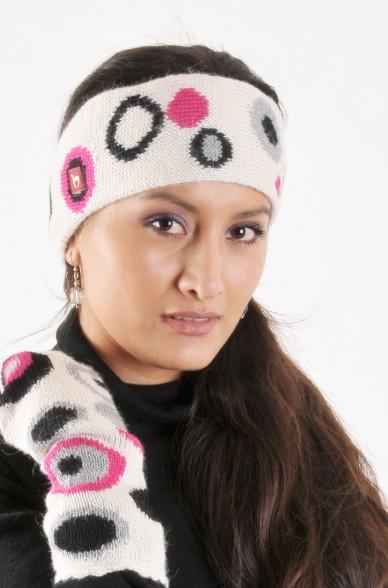 Alpaka Stirnband CIRCULOS aus 100% Baby Alpaka_4208