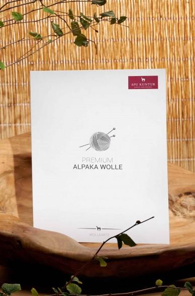 Wollkarte APU KUNTUR für Alpaka Wolle Farbmusterkarte_42759