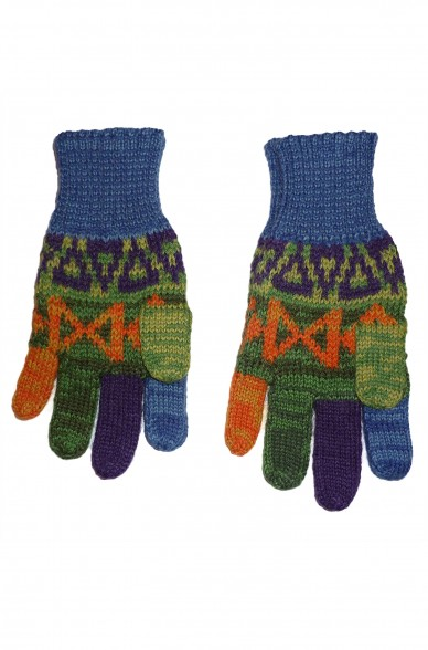 Alpaka Fingerhandschuhe AQUARELLl ( ab 7 Jahre) aus 100% Baby Alpaka_9895